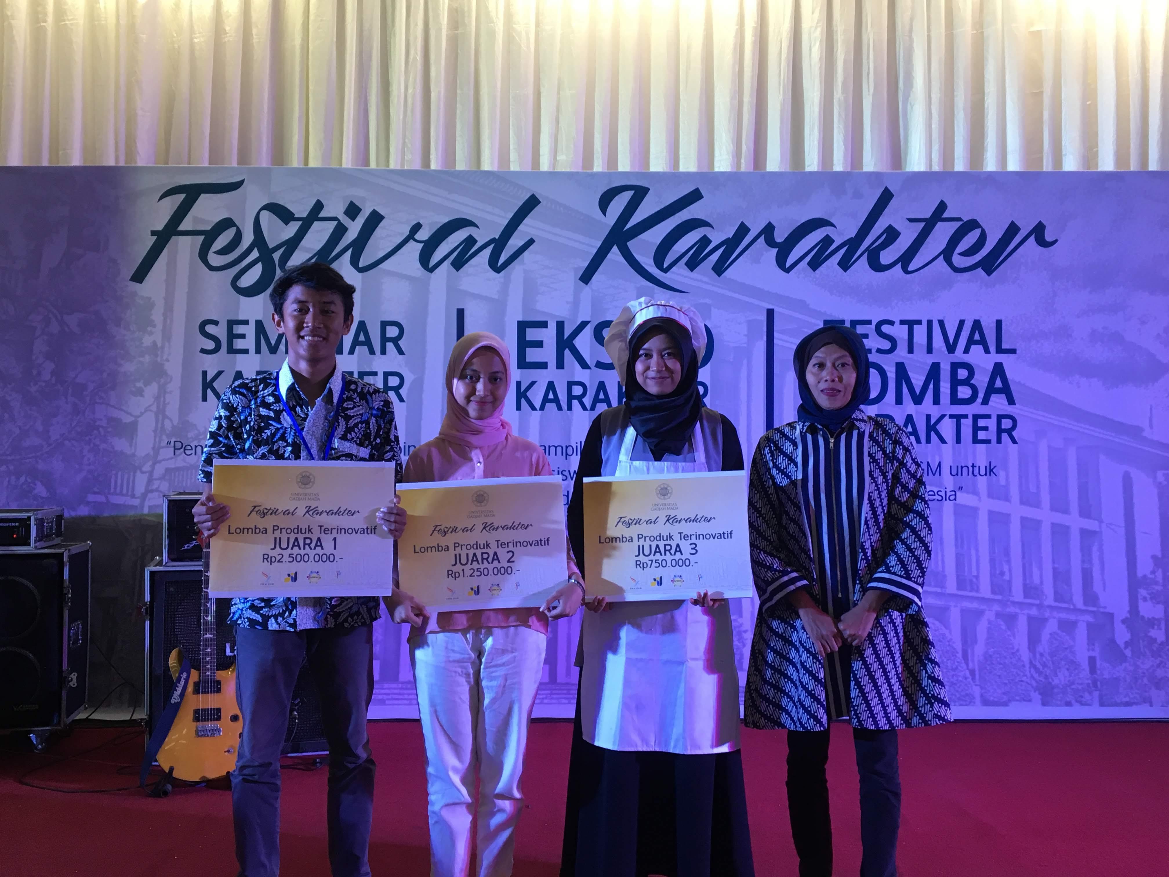 Pemenang Kategori Produk Terinovatif dalam Festival Karakter 2018