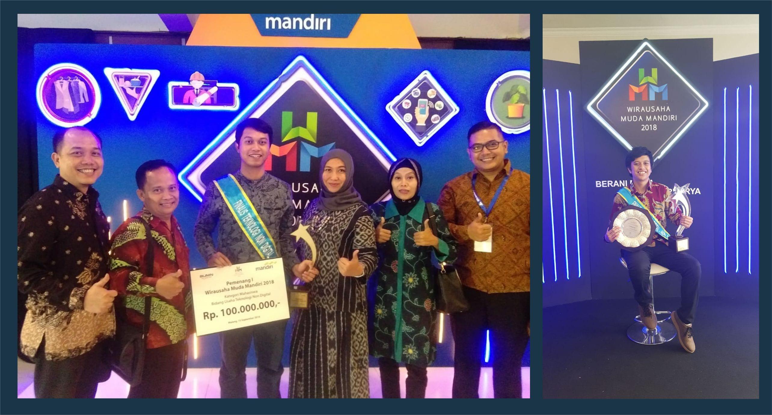 "Start Up Wirausaha ""Majapahitech"" dan ""Kecilin"" Meraih Juara 1 pada Kompetisi Wirausaha Muda Mandiri 2018"