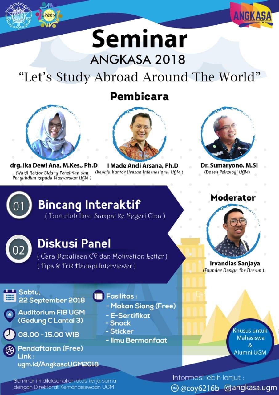 Seminar Angkasa UGM: Let's Study Abroad Around The World